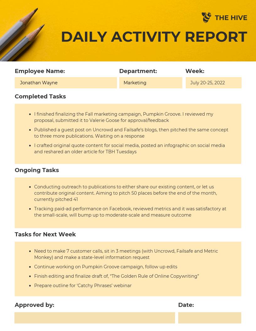 ( Best ) Activity Report